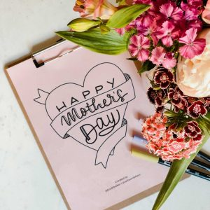 Handlettering Freebie Muttertag